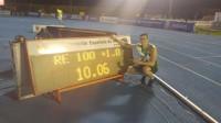 Bruno Hortelano rompe el récord de los 100 metros en Moratalaz y Beitia sigue de dulce