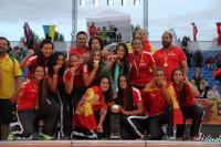 La seleccipon española se proclama campeona del mundo de balonmano playa femenino
