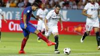 Golpe blaugrana a un combativo Sevilla