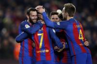 El Barça, a 'semis' con goleada de cierta tensión