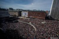 Concentración multitudinaria en Estocolmo para condenar el atentado del viernes