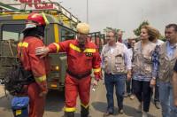 Llegan más militares de refuerzo para luchar contra el incendio de Moguer