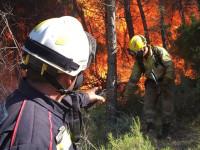 El incendio de la Sierra Calderona avanza hacia el norte