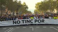 Barcelona entona el 'No tinc por' contra el terrorismo
