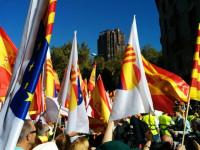 Masiva manifestación en Barcelona con miles de personas a favor de la unidad de España