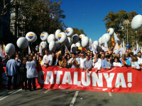 La manifestación de SCC en Barcelona apoya el 21D al grito de 'Votaremos'