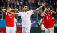 España empaña su imagen ante una discreta Rusia