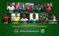 Mohammed Salah, Sadio Mané y Aubameyang, nominados a mejor jugador africano del año