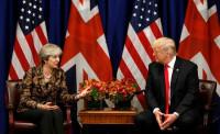 May insta a Trump a presentar su propuesta de paz para Oriente Próximo