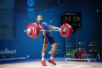 El español David Sánchez, bronce en 69 kilos del Europeo de halterofilia