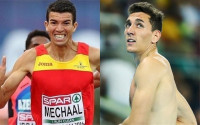 Adel Mechaal acaricia el bronce en 10.000m y Sergio Fernández sigue soñando en 400 vallas