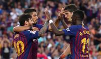 El Barça se exhibe ante el Huesca