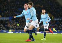 El Manchester City sale líder de Goodison Park