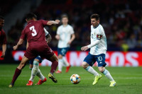 Messi, baja en el segundo amistoso de Argentina por dolor en el pubis