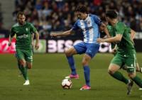 Leschuk rescata un punto para el Málaga en el tramo final