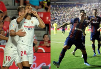 El Sevilla se pone líder y el Levante remonta a un Villarreal perdonador