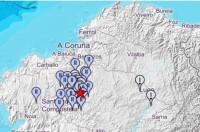 Un seísmo de magnitud 3 sacude la localidad de Frades (La Coruña) esta madrugada