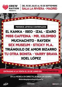 La música en vivo vuelve a La Riviera de Madrid con el ciclo 'Crew Nation Presenta'