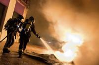 Cuarta noche de disturbios en el barrio de Gamonal de Burgos