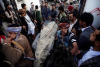 140 muertos y 540 heridos por el bombardeo a un funeral en Saná