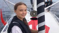 Greta Thunberg, la activista de 16 años, llega a Nueva York en un yate impulsado por energía solar