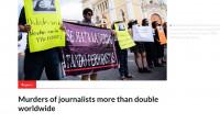 Los asesinatos selectivos de periodistas se duplicaron en 2020 y México fue el país más afectado