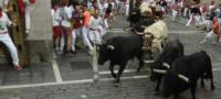 Encierro peligroso de la mano de los toros de Valdefresno