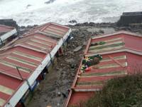 El fuerte oleaje causa importantes daños en la costa vasca