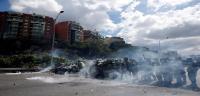 Estallan los disturbios en la manifestación opositora en Caracas