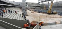 Paran las obras de un estadio del Mundial al morir un trabajador