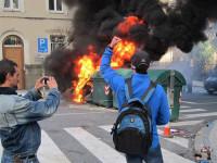 Los disturbios entre policías y marineros toman Santiago