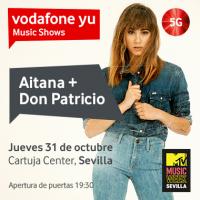 Aitana y Don Patricio, protagonistas del Vodafone yu Music Show