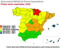 La Rioja, Navarra y País Vasco lideran el ranking de pymes exportadoras industriales