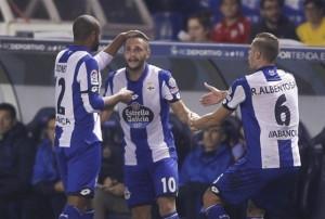 El Deportivo sorprende a la Real Sociedad con una 'manita' por la salvación