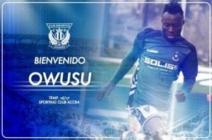 El Leganés ficha al delantero ghanés Owusu Kwabena