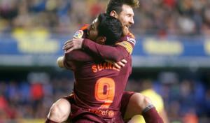 El Barça responde a la presión con Suárez y Messi