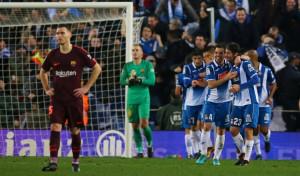 Melendo ajusticia al Barça y rompe el gafe en Cornellà