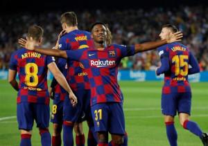 Un Barça letal golea al ritmo de Ansu Fati