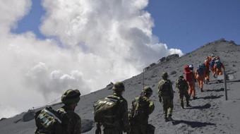 El número de muertos por la erupción del Ontake podría ascender a 46 tras la localización de nuevas víctimas