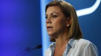 Cospedal arremete contra Sánchez por el apoyo socialista a la ley de consultas