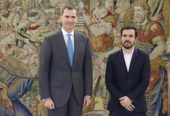 IU traslada al Rey que si Pedro Sánchez quiere, le ayudará a explorar un gobierno
