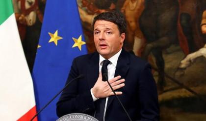 Renzi presenta su dimisión como primer ministro italiano