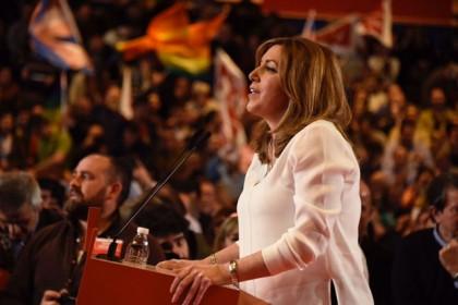 Susana Díaz recalca que no tiene adversarios en el PSOE, sino fuera