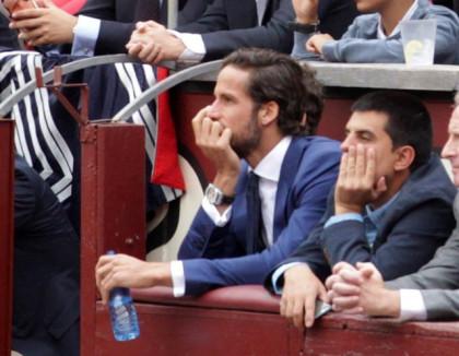 Feliciano López disfruta de una tarde de toros en Las Ventas