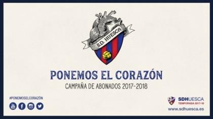 La SD Huesca regala abonos para los aficionados que se tatúen su escudo