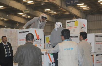 UNICEF lleva a Saná seis millones de dosis de vacunas para combatir, entre otros, el brote de difteria en Yemen
